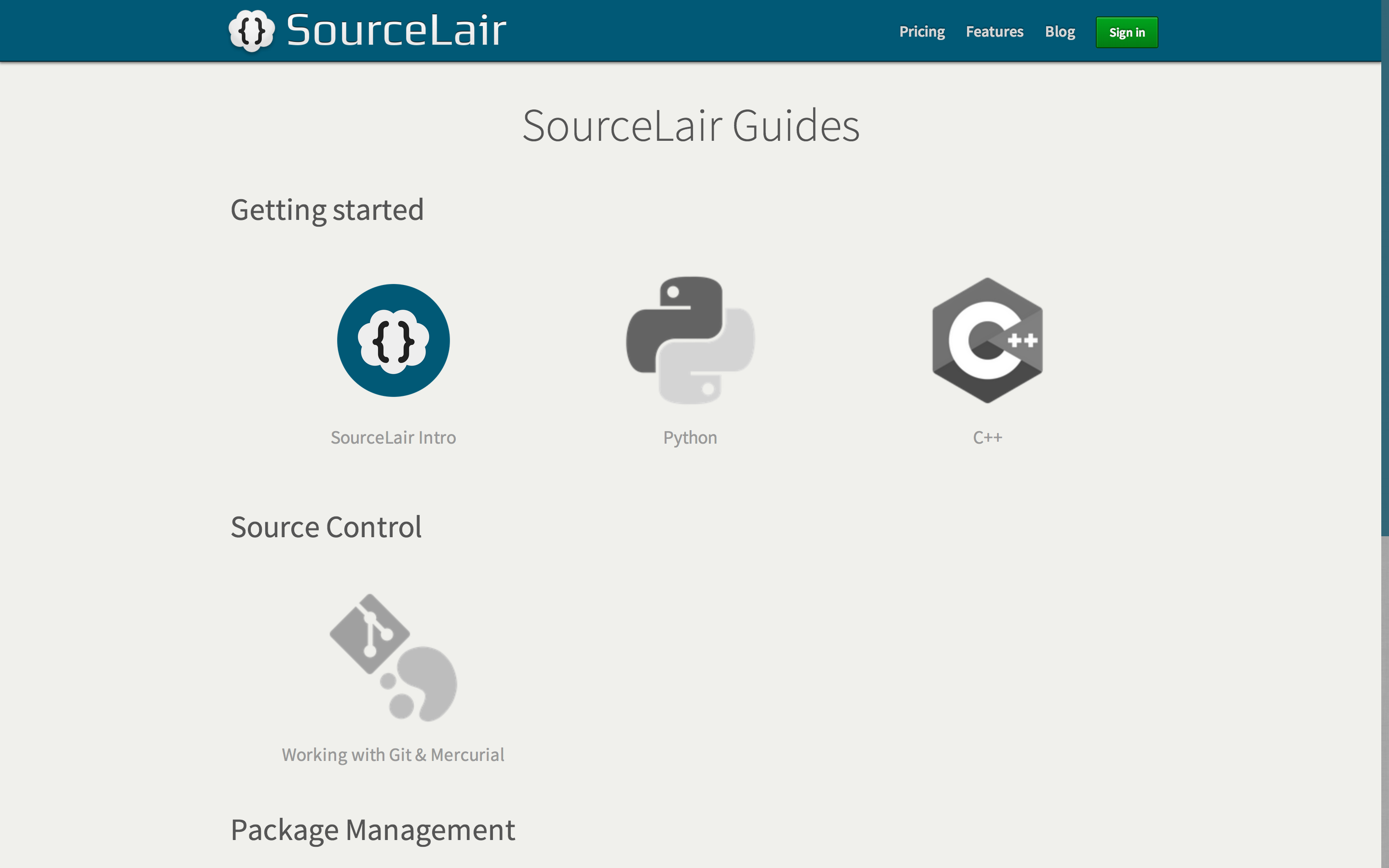 SourceLair Guides